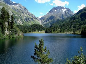 Cavloc Lake, Maloja GR, Monte Forno mountain, Switzerland