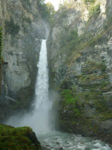 Challand-Saint-Victor, Isollaz Waterfall, Italy