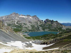 Salanfe Lake VS, Dents du Midi mountain, Switzerland