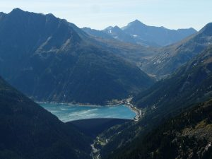 Schlegeis Reservoir, Zamser Grund Valley, Pfitscher Joch, Austria