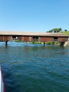 rivier - Rijn - overdekte brug - houten brug 20190607_115940