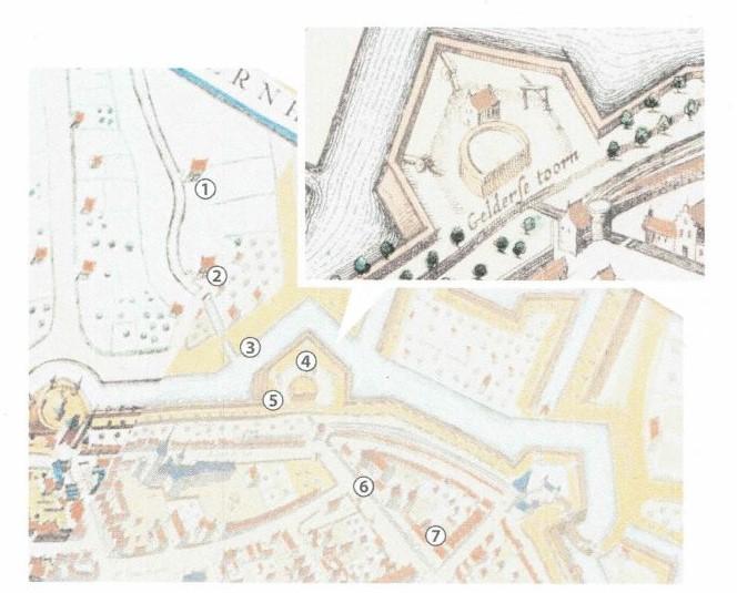 St. Jansbeek-loop in de 17e eeuw- Gelderse Toren